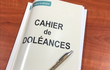 La ville met à disposition un cahier de doléances