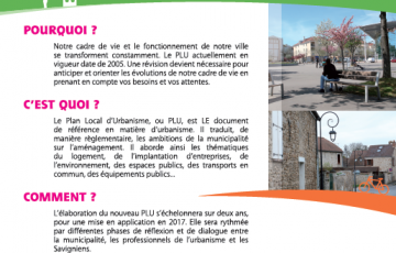 Plan local d'urbanisme savigny